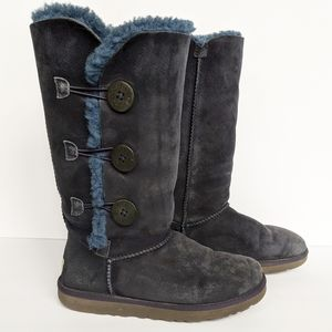 UGG navy triple bailey button tall boots size 8